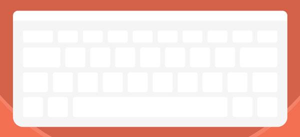 Keyboard with all keys