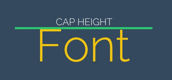 Cap height