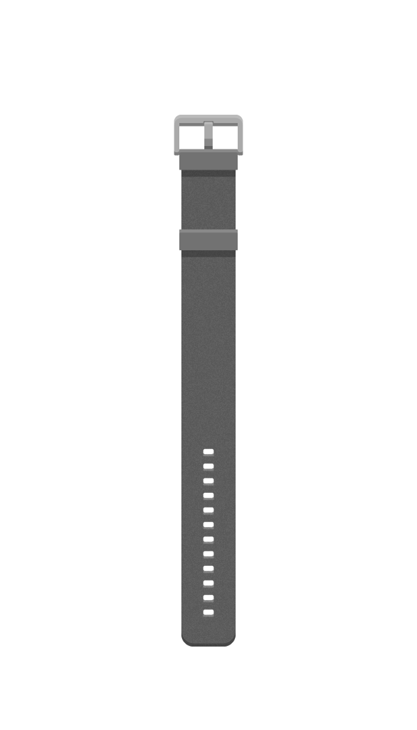 Watch band with grainy texture applied