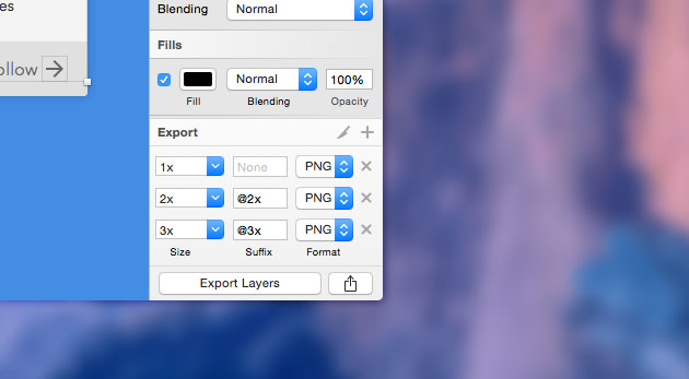 Exporting the image assets