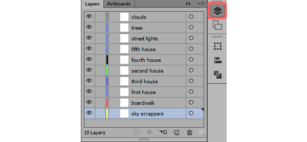 Setting layers