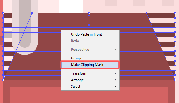 Clipping mask to the roof