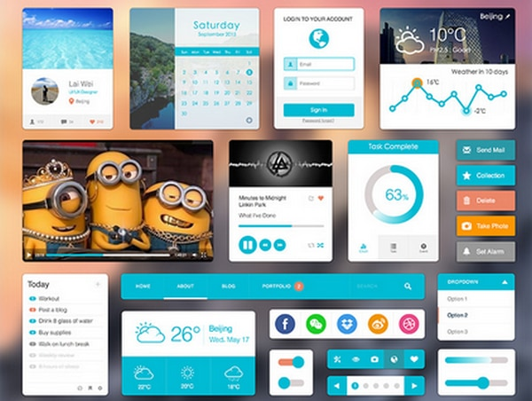 Flat UI Elements .sketch resource