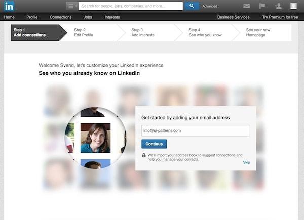 LinkedIn向导表单