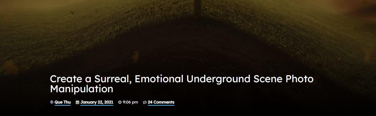 Create a Surreal, Emotional Underground Scene Photo Manipulation