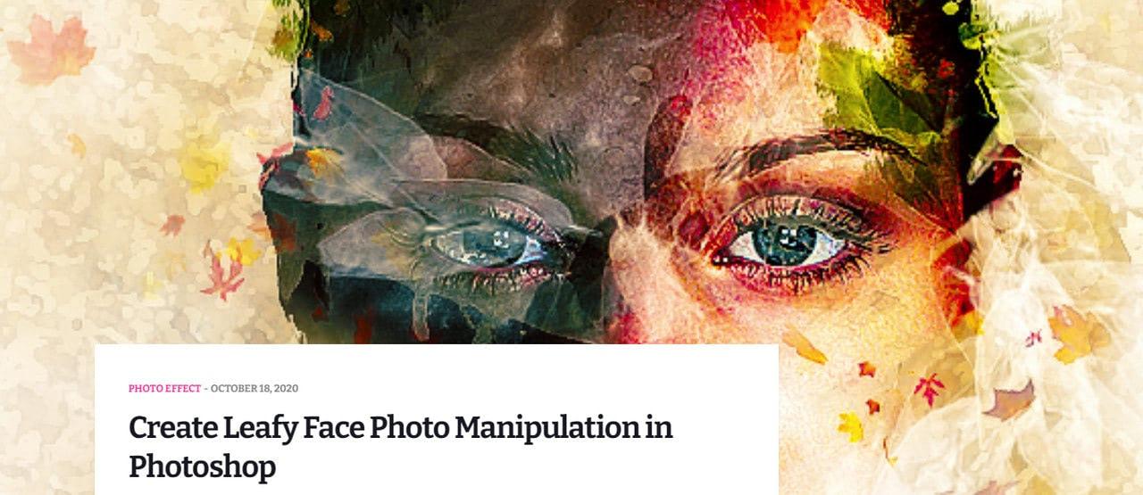 Create Leafy Face Photo Manipulation