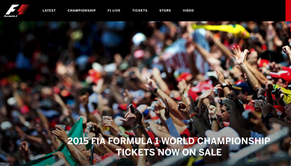 Formula 1 official website