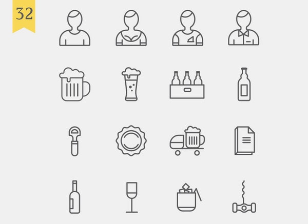 List Of Free Food Icons For Restaurant Themed Uis Designmodo