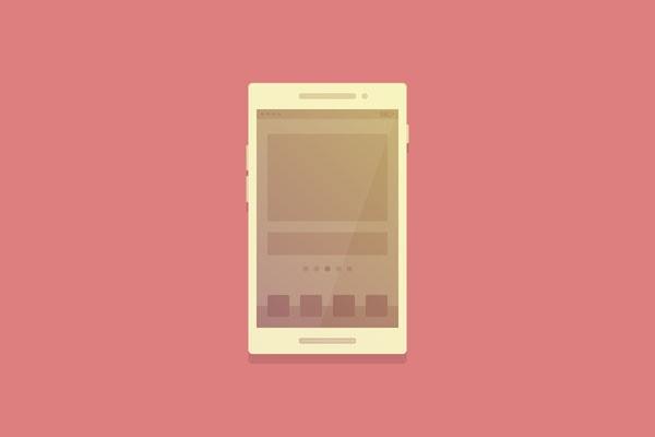 Flat Smartphone Illustration