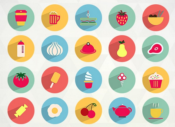 Flat Food and Drink Icons
