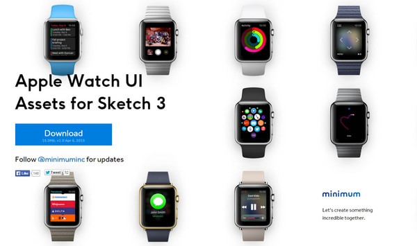 Apple Watch UI Assets for Sketch 3
