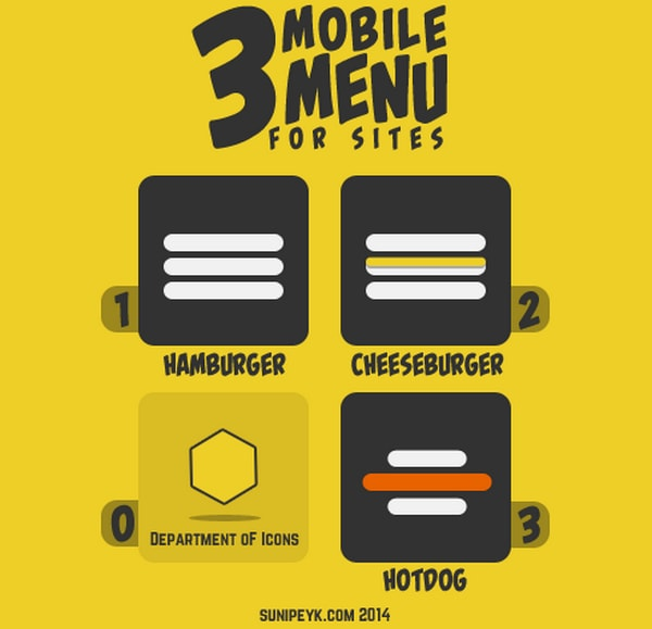 Hamburger Menu Icons