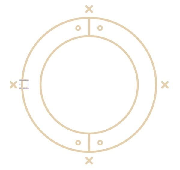 Draw 2 lines 8x8 px