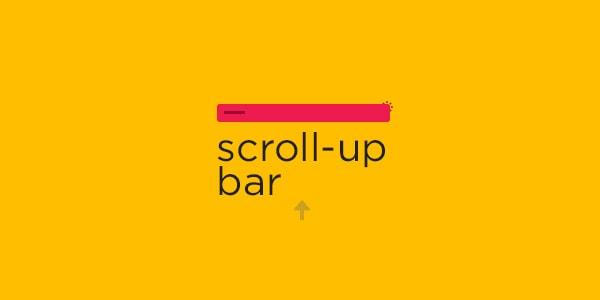 Scroll up bar
