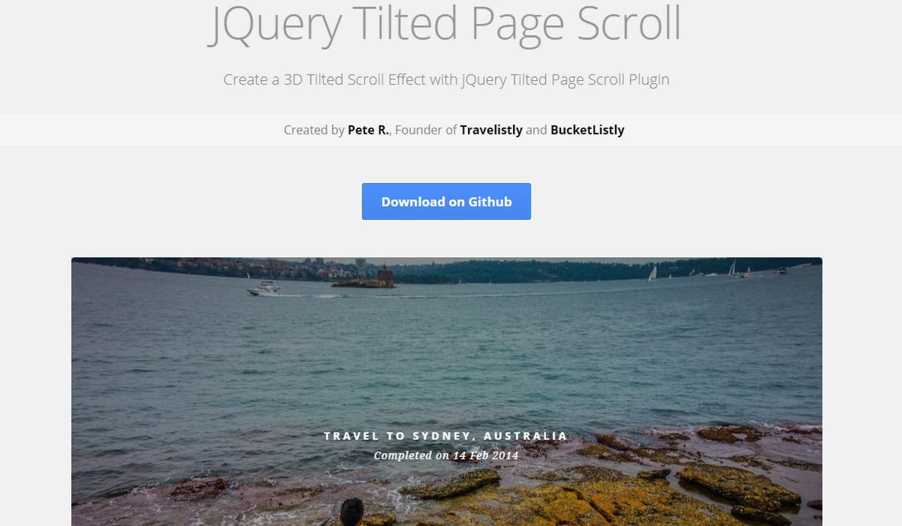 Tilted Page Scroll