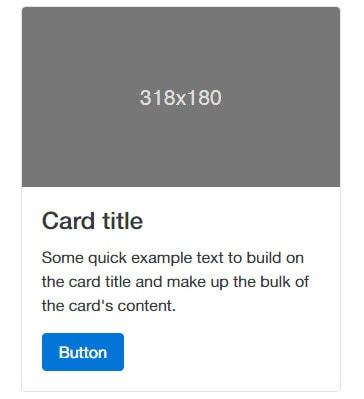 Boostrap 4 Cards