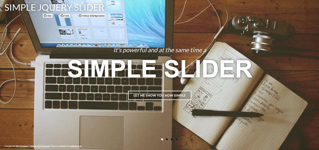 Simple slider