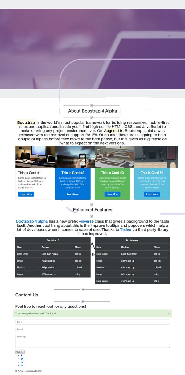 Bootstrap 4 Tutorial: Create a One-Page Template