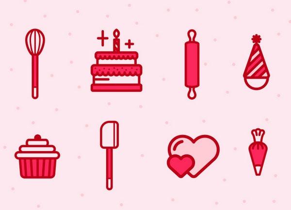 Cupcakery Icons by Joash Berkeley