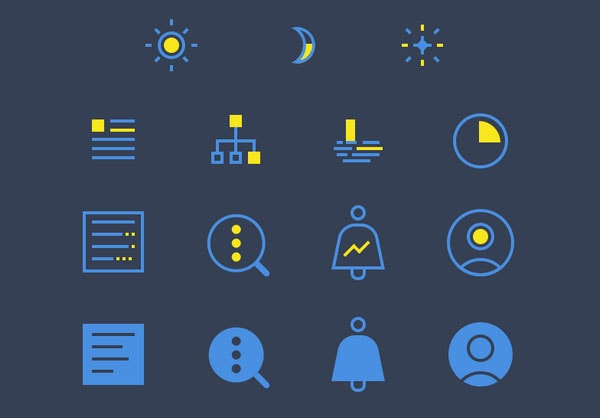 Night Mode Icon Set by Jinglu Li