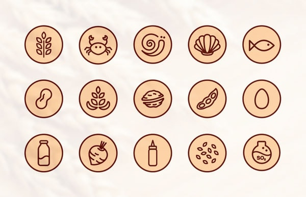 Food Allergens Icons by Tunde Szentes