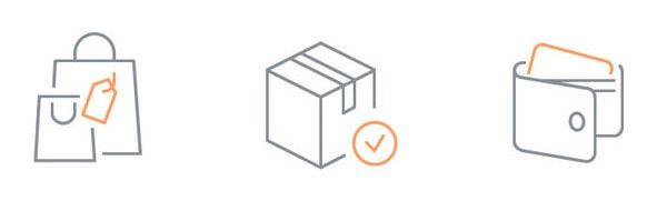 Free e-commerce set of 80 icons by Anton Scherbik