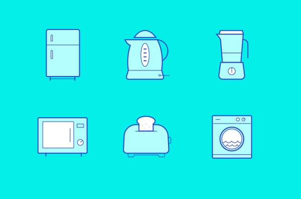 Kitchen Icons Freebie by Joby Varghese