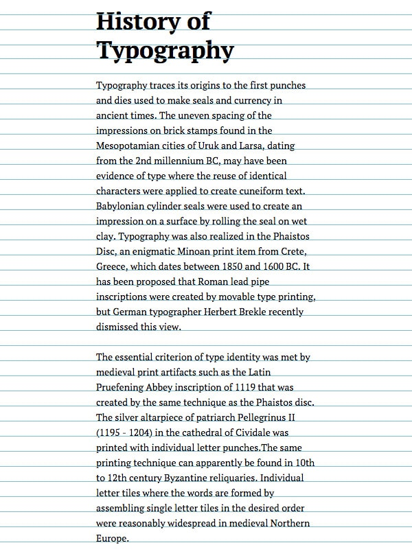 Scale for Web Typography