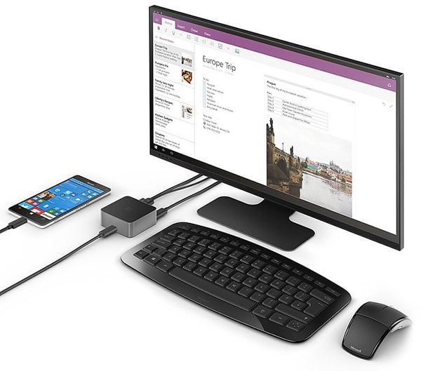 Continuum and Display Dock in use