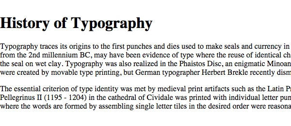 Responsive typography