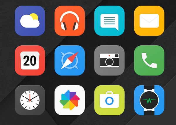 Alcatel Launcher App Icons by Denys Nevozhai