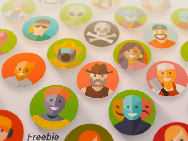 1000 Flat And Material Design Avatars