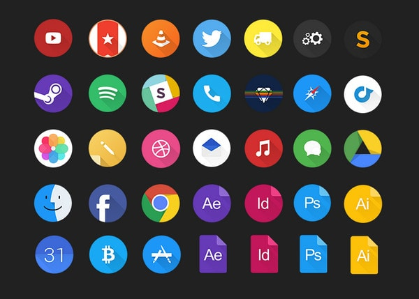 Material Inspired Icons Master Set by Jurre Houtkamp