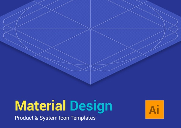 Material Design Icon Templates by Zlatko Najdenovski
