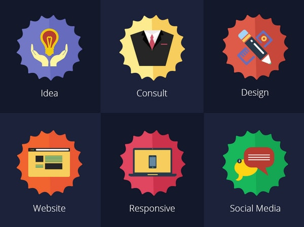 Flat Services Icons by Khuram Jameel