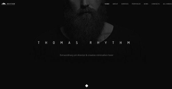 Black Website Example
