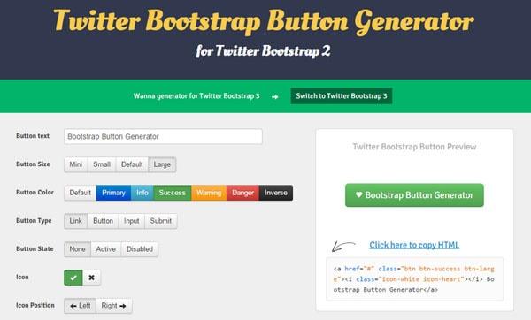 Trình tạo nút Bootstrap