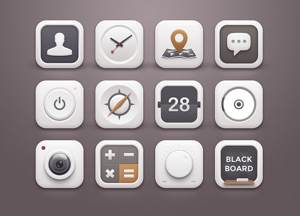 White Winter Icons by Sunbzy