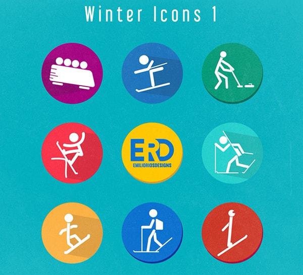 Winter Olympics Icons