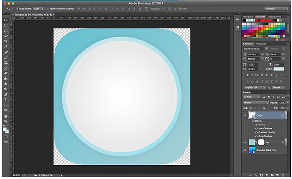 how to create notepad app icon in photoshop