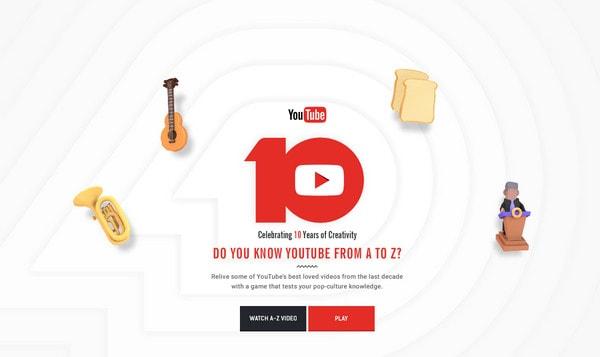 YouTube 10th Anniversary