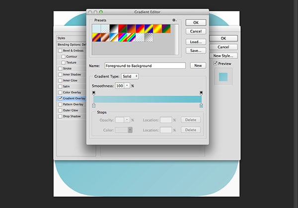 Adding a gradient