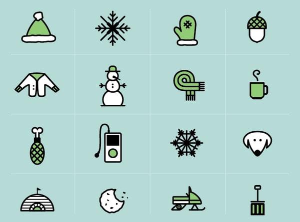 Winter Icon Set by Neil Renicker