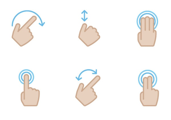 Gesture Icons pt.2 by Kyle Adams
