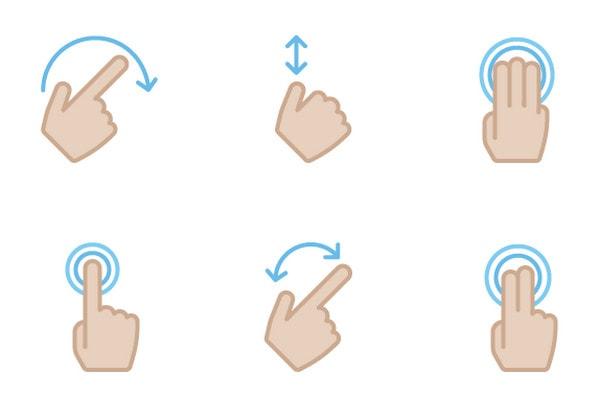 Gesture Icons pt.2 by Kyle Adams