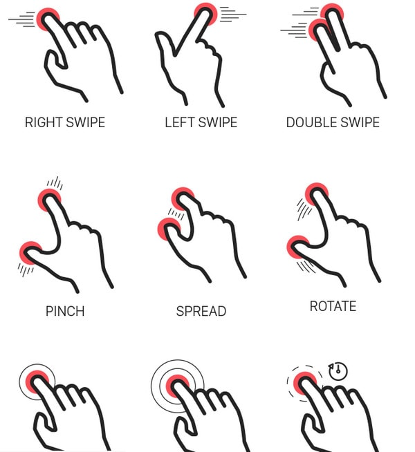 Touch Gesture Icons by Sertac Kurt
