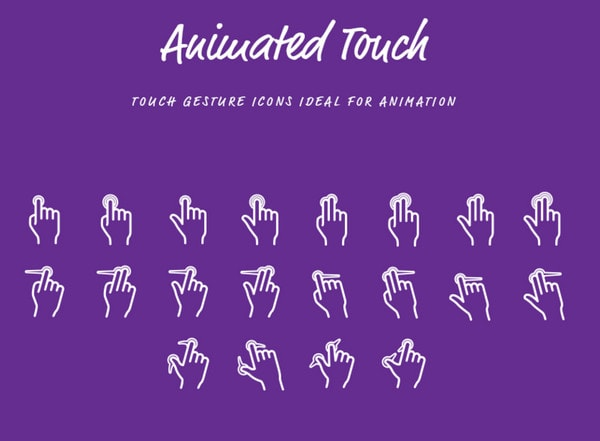 """Touch Gesture"" iconset by Erik Ragnar Eliasson"