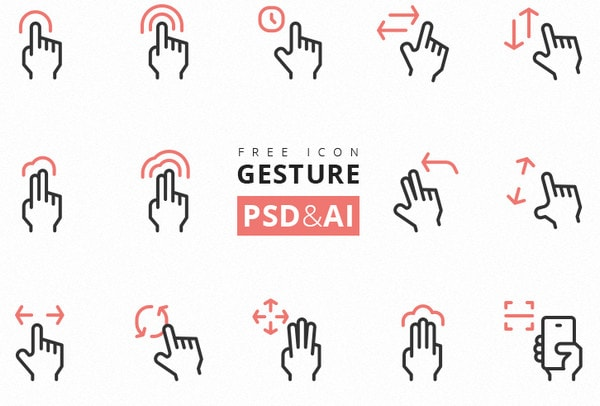 Gesture Icon Freebie by Rena One