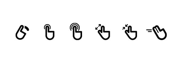 Mobile gestures icons by timo wagner