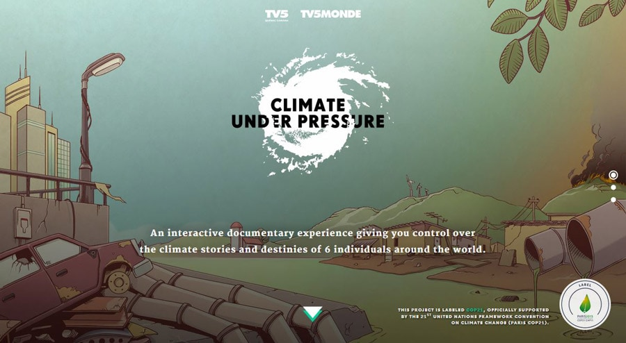 Climate under pressure  - climate - 11 Web Design Trends for 2016